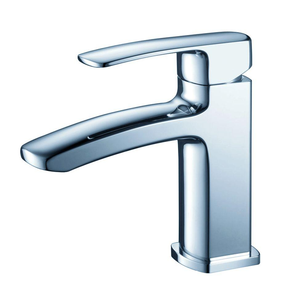 Fresca Fiora Single Hole 1-Handle Low-Arc Bathroom Faucet in Chrome ...