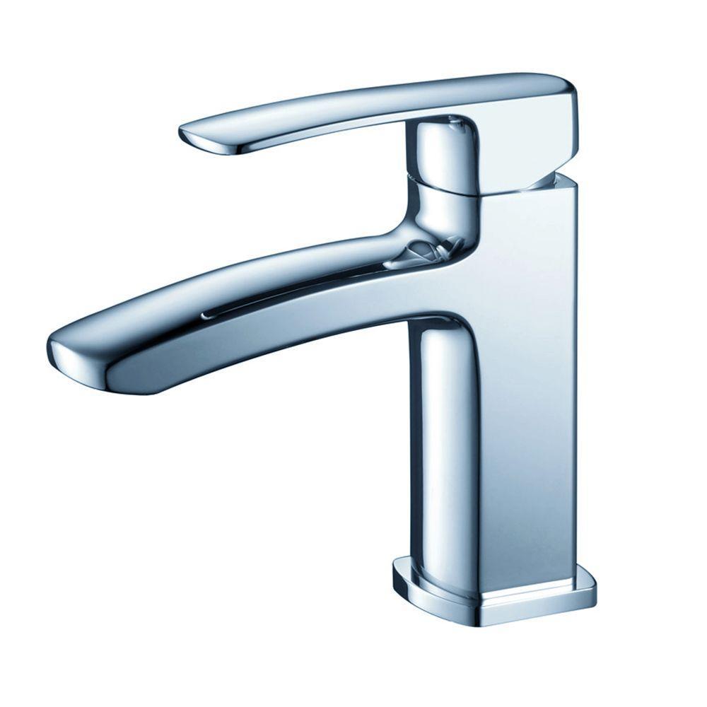 Fresca Fiora Single Hole 1-Handle Low-Arc Bathroom Faucet in ...