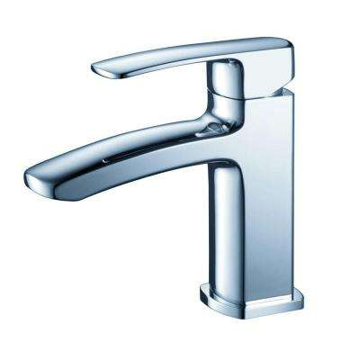 Fiora Single Hole 1-Handle Low-Arc Bathroom Faucet in Chrome