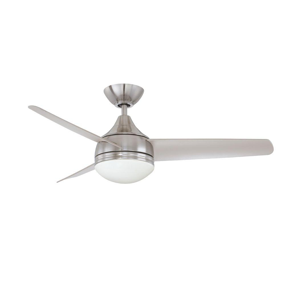 Designers Choice Collection Moderno 42 in. Satin Nickel Ceiling Fan