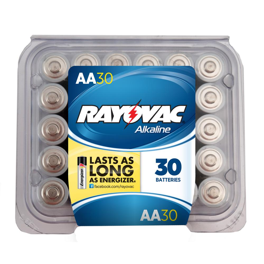 Rayovac 815-30F Alkaline Batteries Re-Closable Pro Pack (30-Pack)