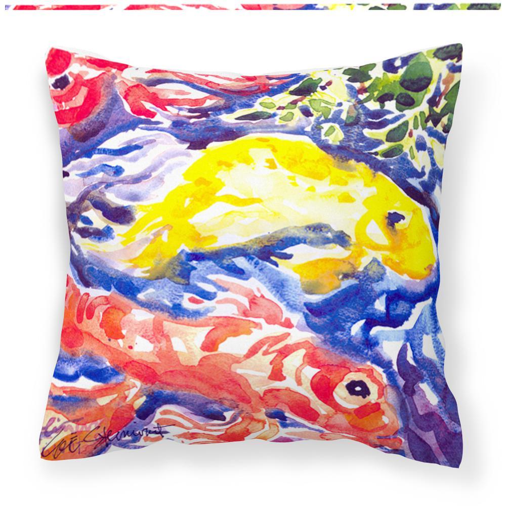 Caroline 39 s treasures 14 in x 14 in multi color lumbar - Fabric for throw pillows ...