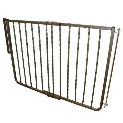 30 in. H x 27 in. to 42.5 in. W x 2 in. D Bronze Wrought Iron Decor Gate