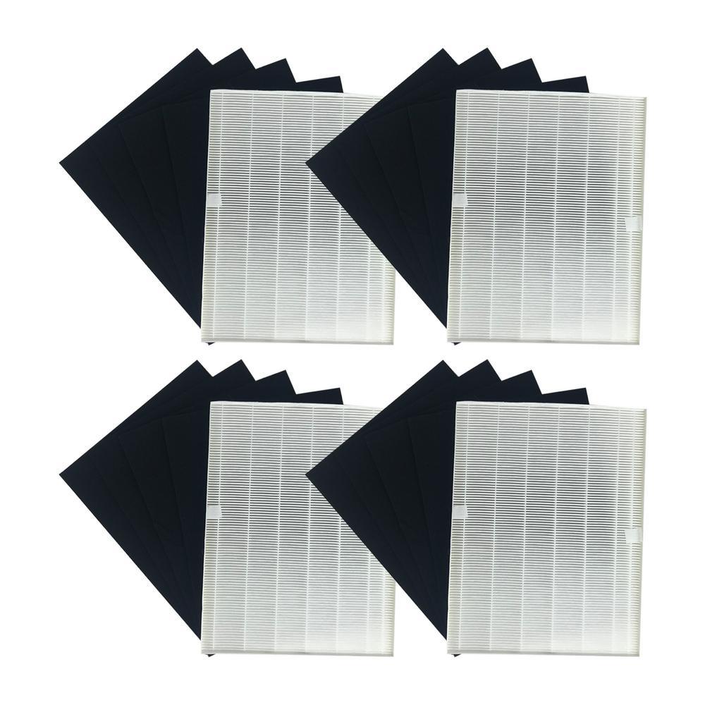 17.9 x 14.2 x 2.1 Repl Winix 21HC4 115115 Air Purifier Filter & 16 Carbon Filters Fit 5500 WAC5300 WAC5500 WAC6300(4Pk)
