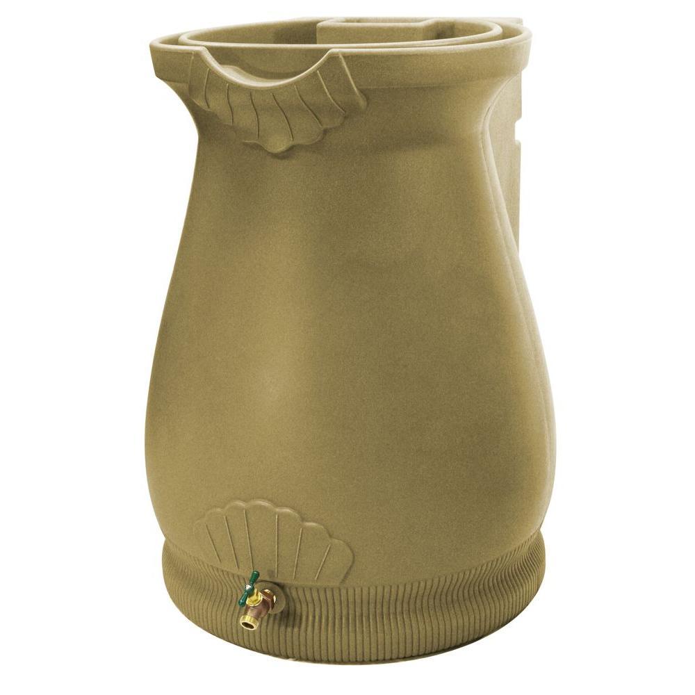 Rain Wizard 65 Gal. Khaki Urn Rain Barrel