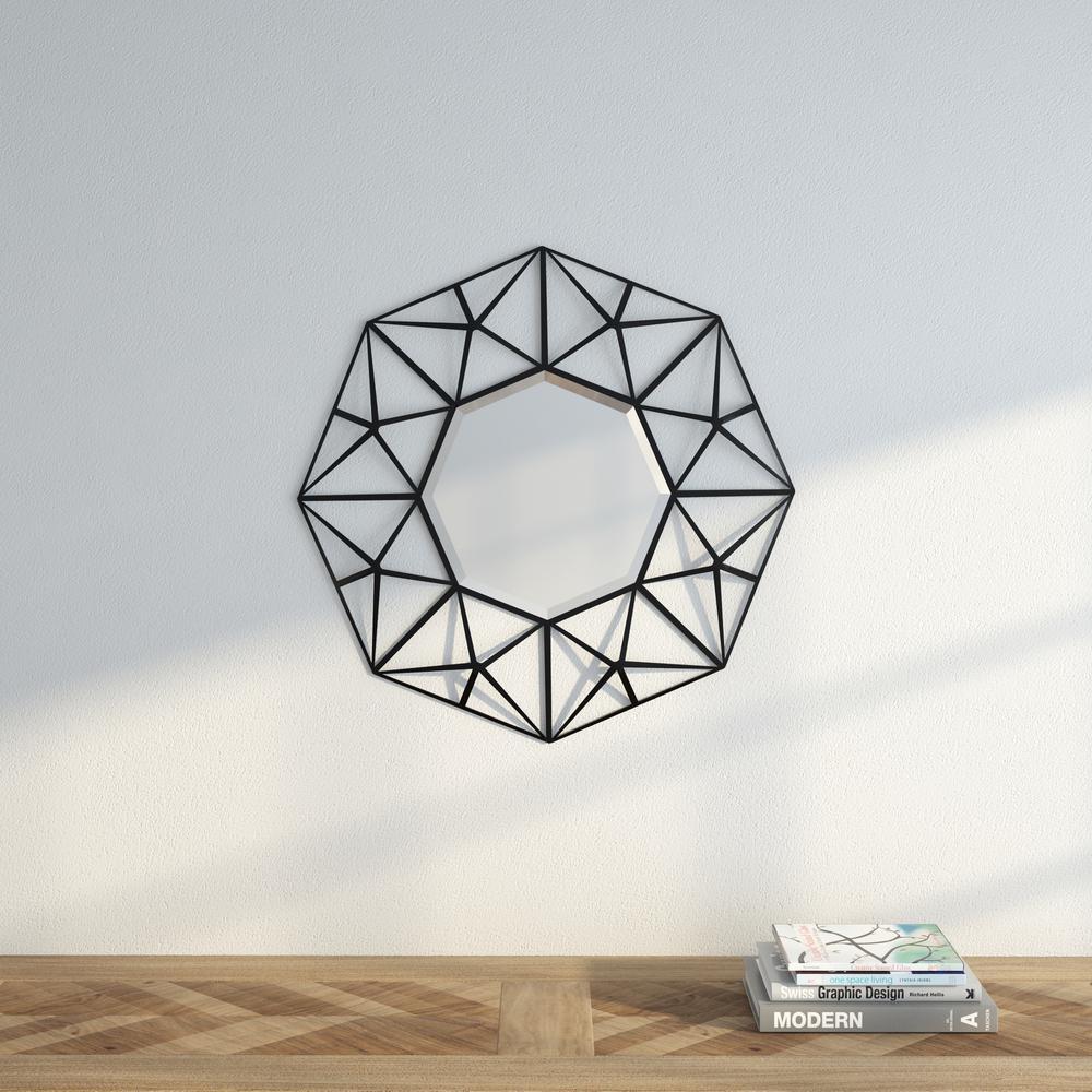 Firestone 26.25 in. H x 26.25 in. W Geometric Mirror