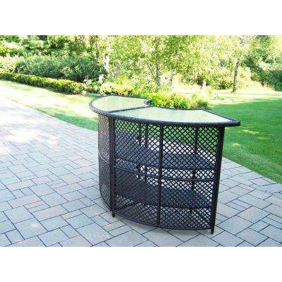 Wicker Outdoor Serving Bar