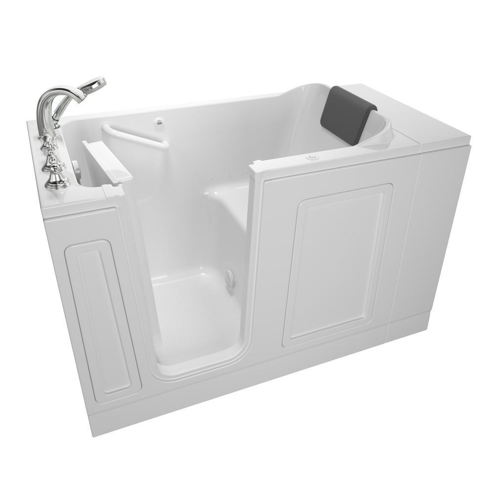Acrylic Luxury 51 in. Walk-In Air Bath Bathtub in White
