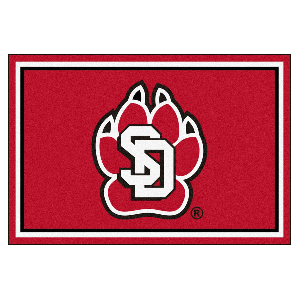 Fanmats Ncaa University Of South Dakota Red 8 Ft X 5 Ft Indoor Area Rug 20255 The Home Depot