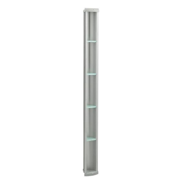 Pilaster Shower Niche in Matte Nickel