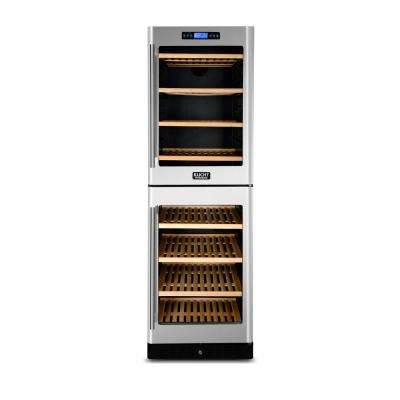 155-Bottle Dual Zone Wine Cooler Built-in with Compressor in Stainless Steel