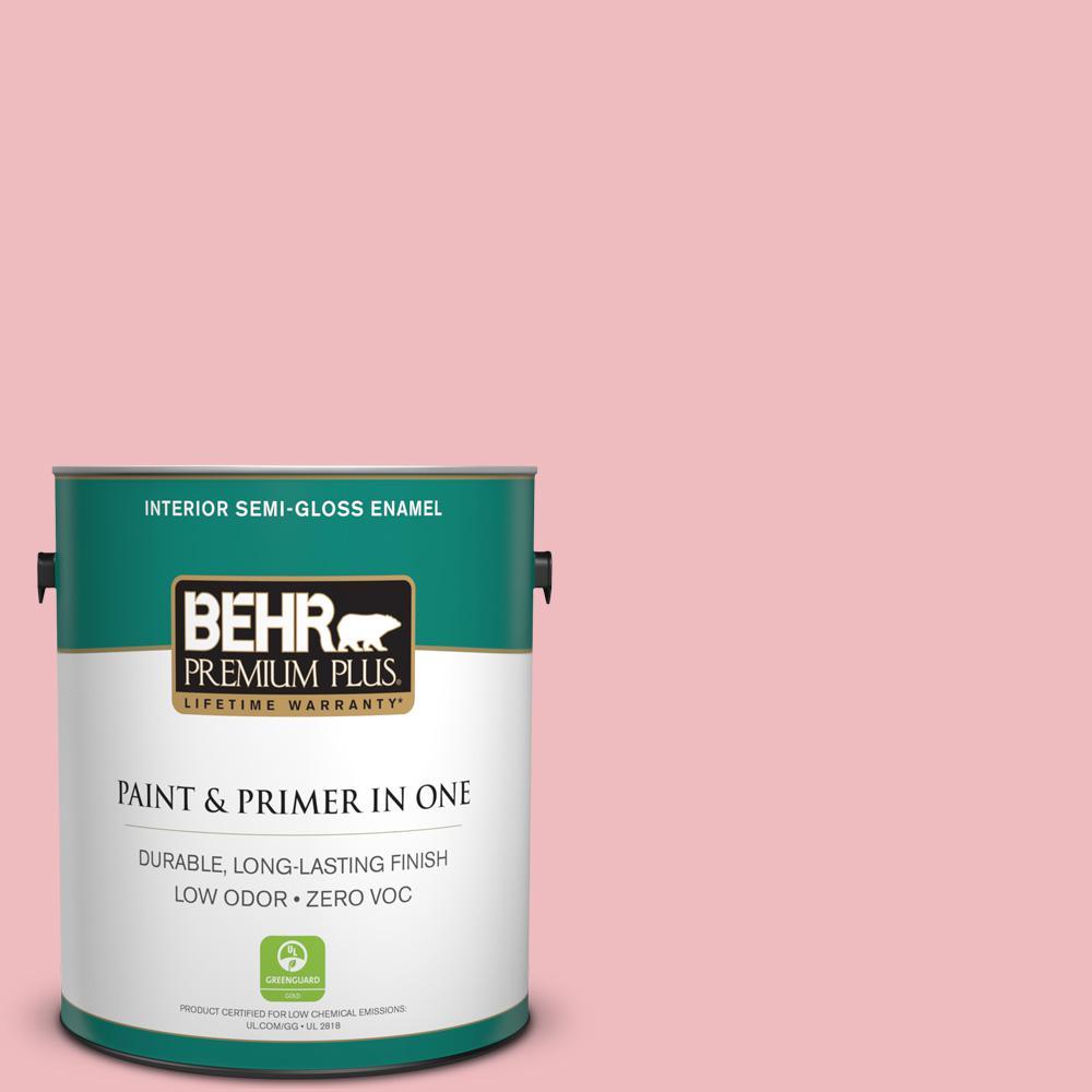 1-gal. #P160-2 Blush Rush Semi-Gloss Enamel Interior Paint