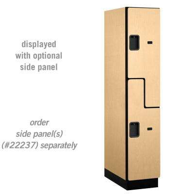 "27000 Series Double-Tier ""S"" Style 24 in. D 2-Compartments Extra Wide Designer Particle Board Locker in Maple"
