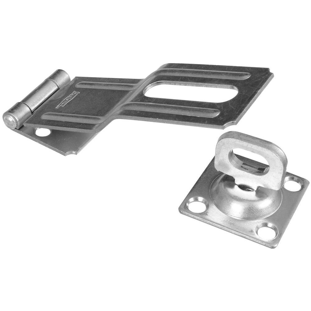 National Hardware 4-1/2 in. Swivel Staple Safety Hasp in Zinc Plate-DISCONTINUED