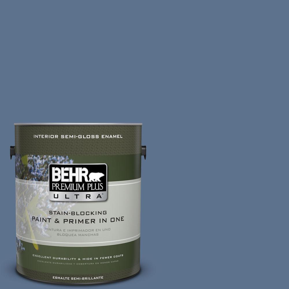 BEHR Premium Plus Ultra 1-gal. #PPU14-1 Arrowhead Lake Semi-Gloss Enamel Interior Paint
