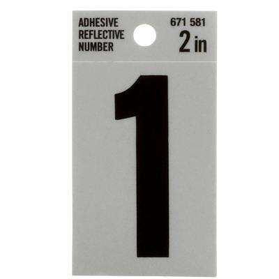 5 in. Mylar Reflective Number 1