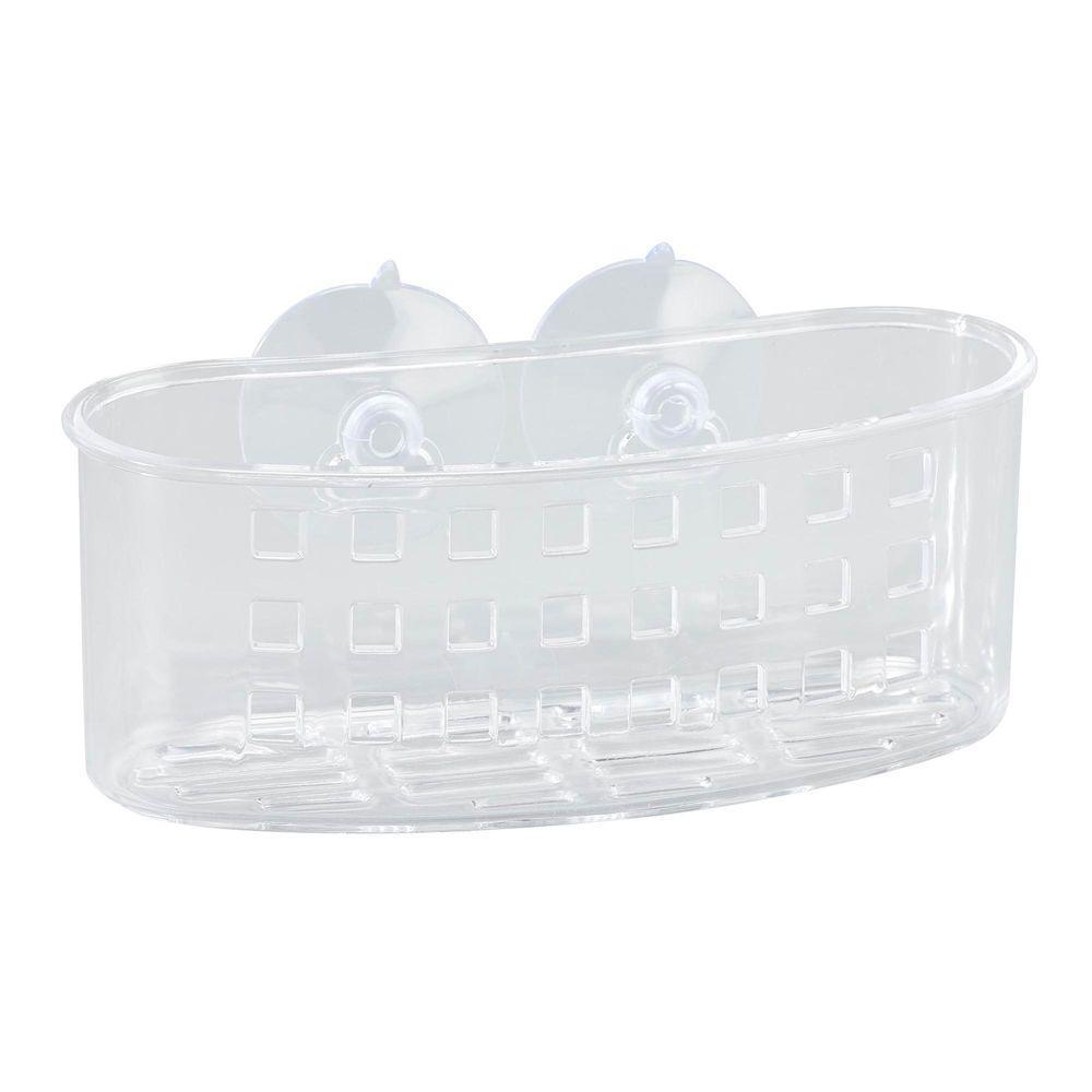 Bath Bliss Medium Bath Basket with Suction in Clear