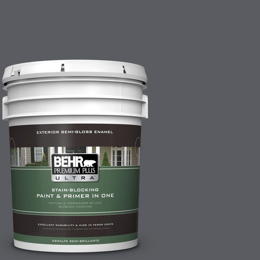 BEHR Premium Plus Ultra 5-gal. #PPU18-2 Pencil Point Semi-Gloss Enamel Exterior Paint