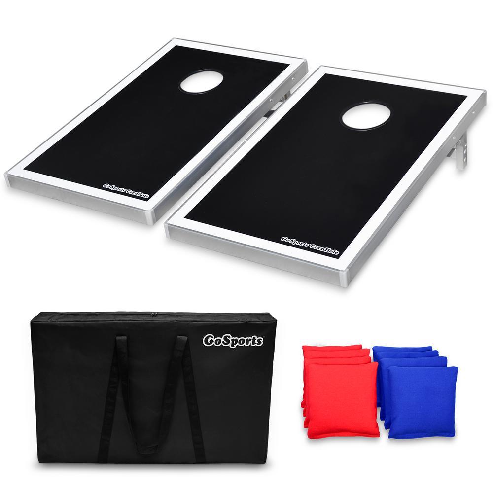Tailgate Size Bean Bag Toss Boards Set Portable Aluminum Frame