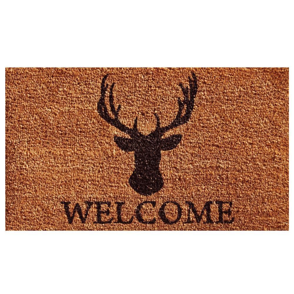 Deer Welcome Door Mat 17 in. x 29 in.