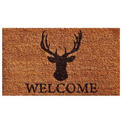 Deer Welcome Door Mat 17 in. x 29 in.