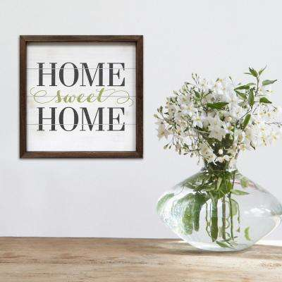 Indoor 16 in. x 16 in. Home Sweet Home Decorative Sign