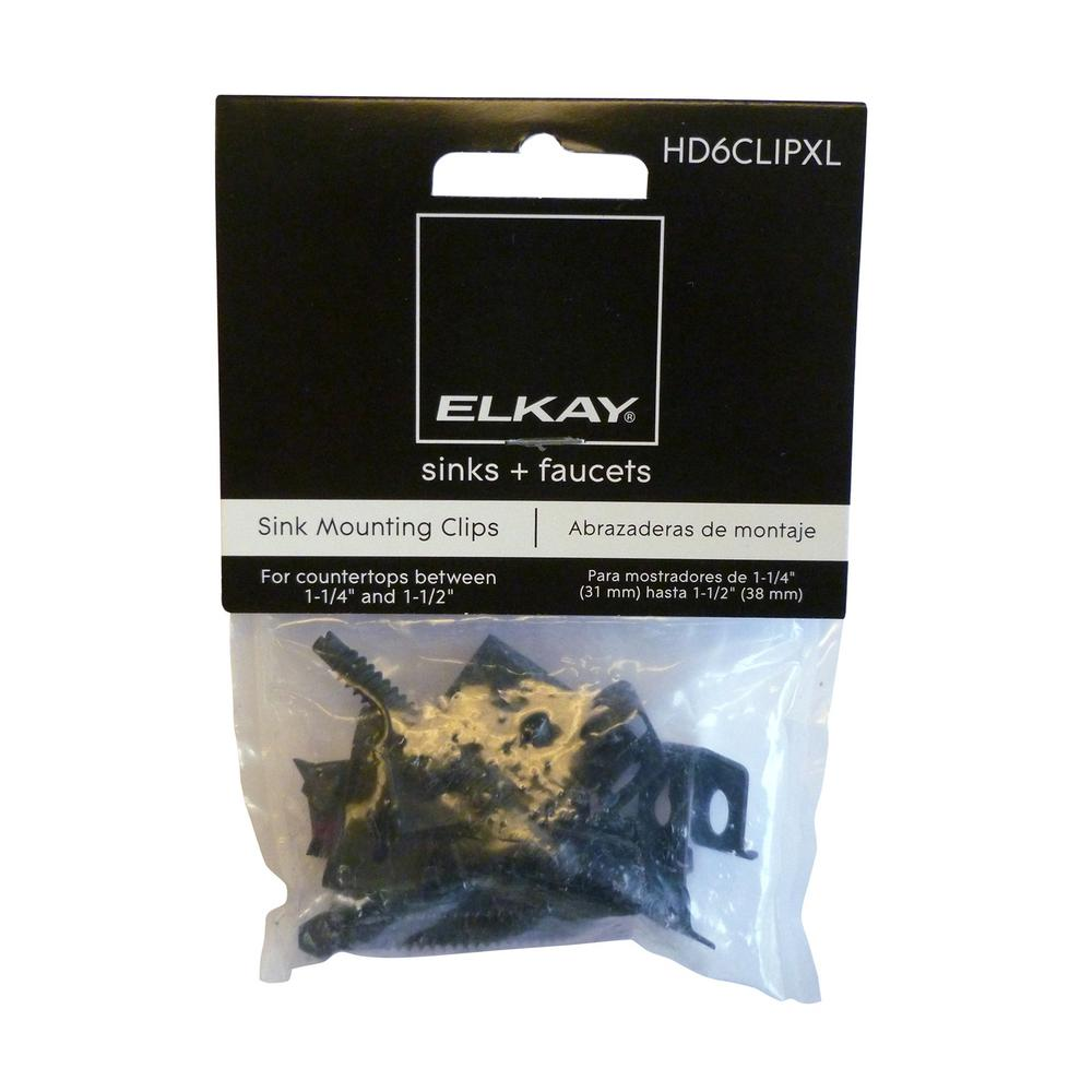 Elkay Heavy Duty Extra Long Clips And Screws Bag Of 6 Hd6clipxl The Home Depot