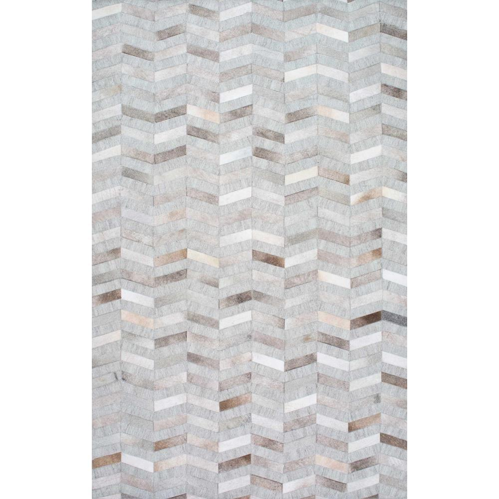 Nuloom Cowhide Mitch Silver 8 Ft X 10 Ft Area Rug