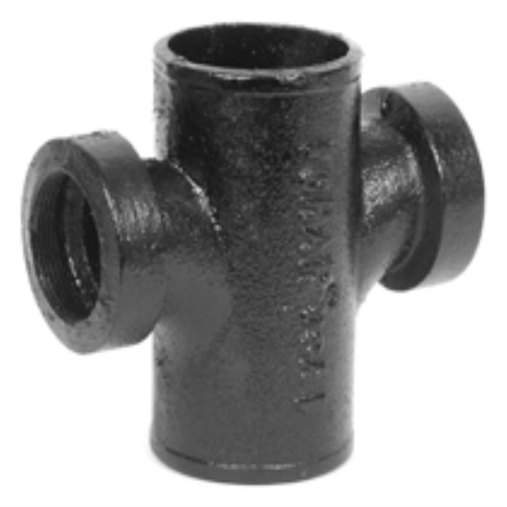 Charlotte Pipe 2 in  x 1-1/2 in  Cast-Iron DWV No-Hub Tapped