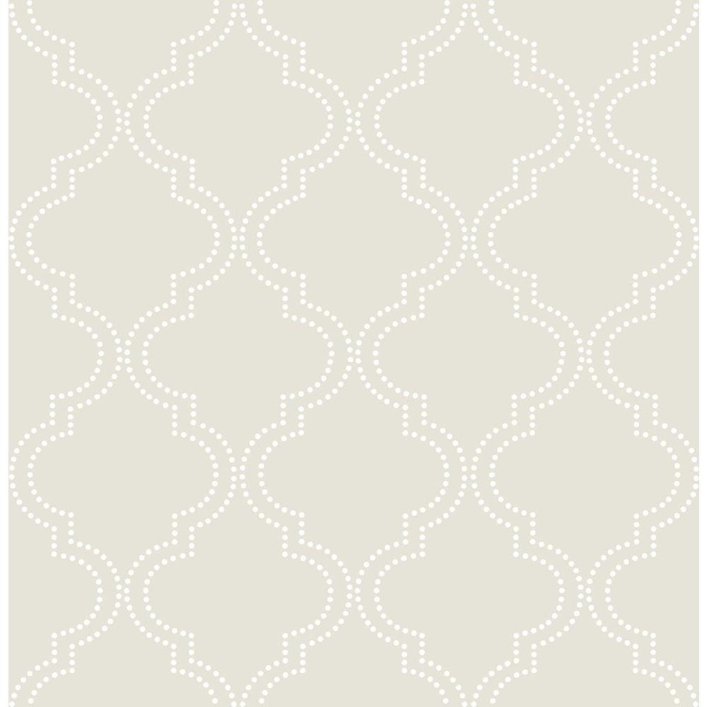 Taupe Quatrefoil Peel and Stick Wallpaper Sample