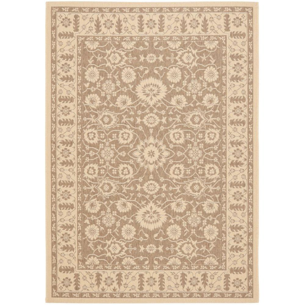 Courtyard Brown/Cream 5 ft. 3 in. x 7 ft. 7 in.