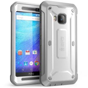 SUPCASE Unicorn Beetle Pro Full-Body Rugged Case for HTC One M9, White/Gray by