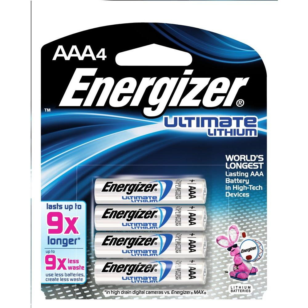 Energizer Ultimate Lithium AAA Battery (4-Pack)