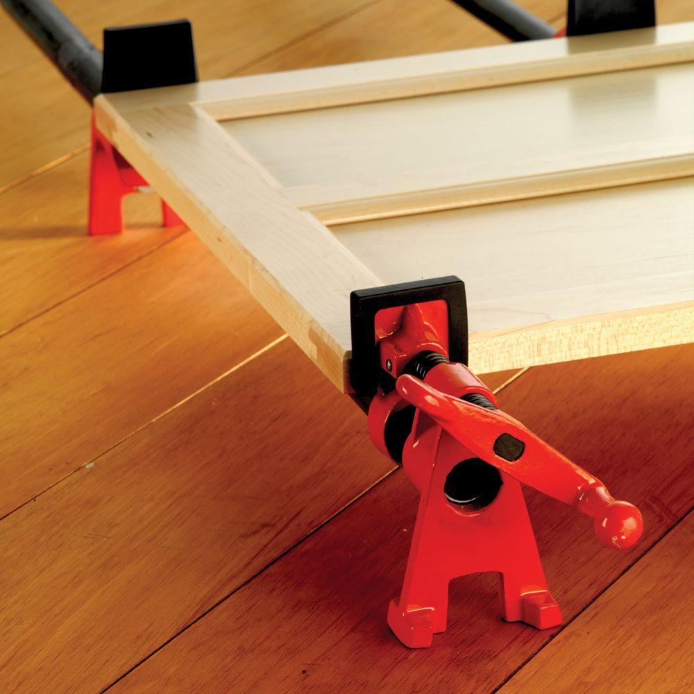 bessey h-style pipe clamp fixture set for 3/4 in. black pipe