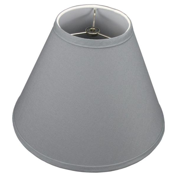Fenchel Shades 12 in. Width x 8.25 in. Height Graphite/Nickel Finish Empire Lamp Shade
