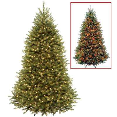 7.5 ft. PowerConnect Dunhill Fir Artificial Christmas Tree with Dual Color LED Lights