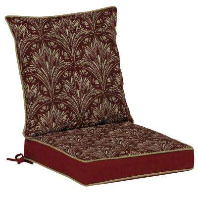Royal Zanzibar Berry 2-Piece Outdoor Dining Chair Cushion
