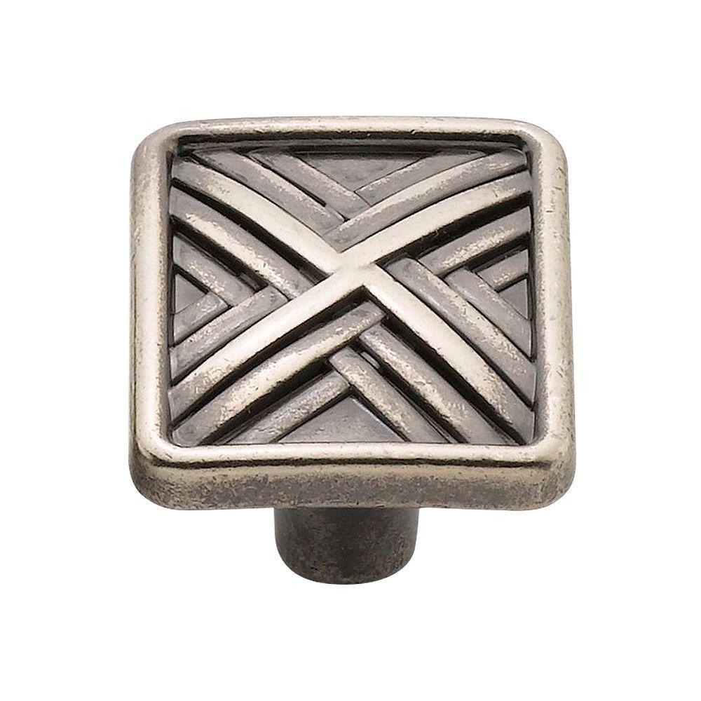 1.5 in. Antique Nickel Hard Cross Knob