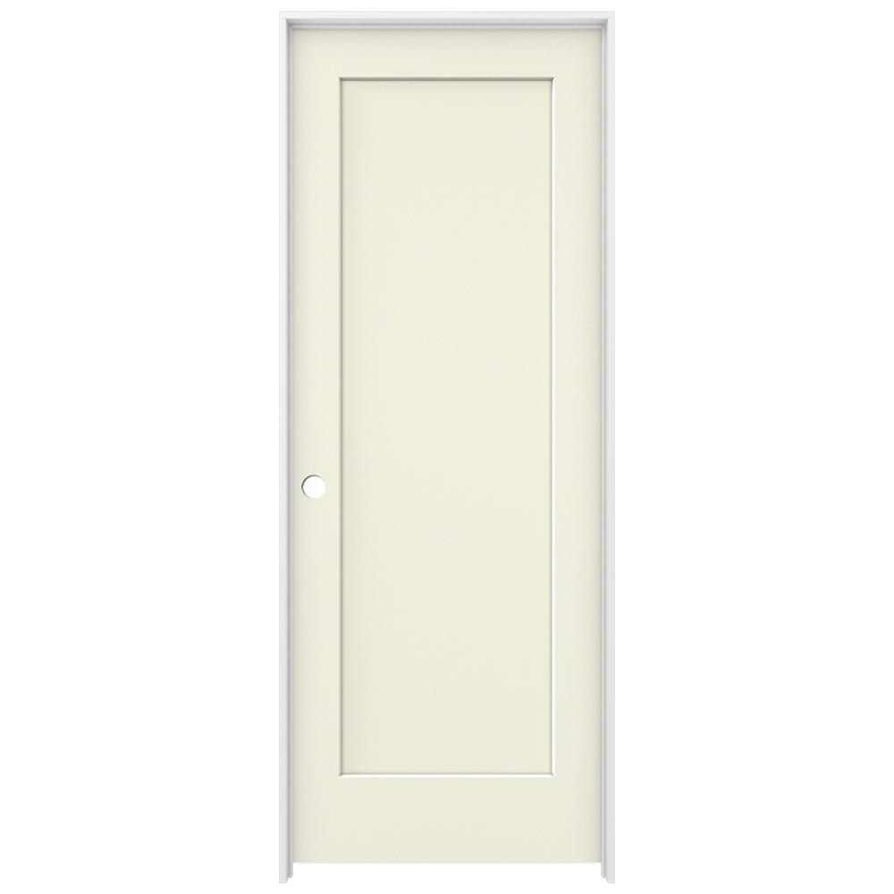 Jeld Wen 32 In X 80 Madison Vanilla Painted Right Hand Smooth Solid Core Molded Composite Mdf Single Prehung Interior Door