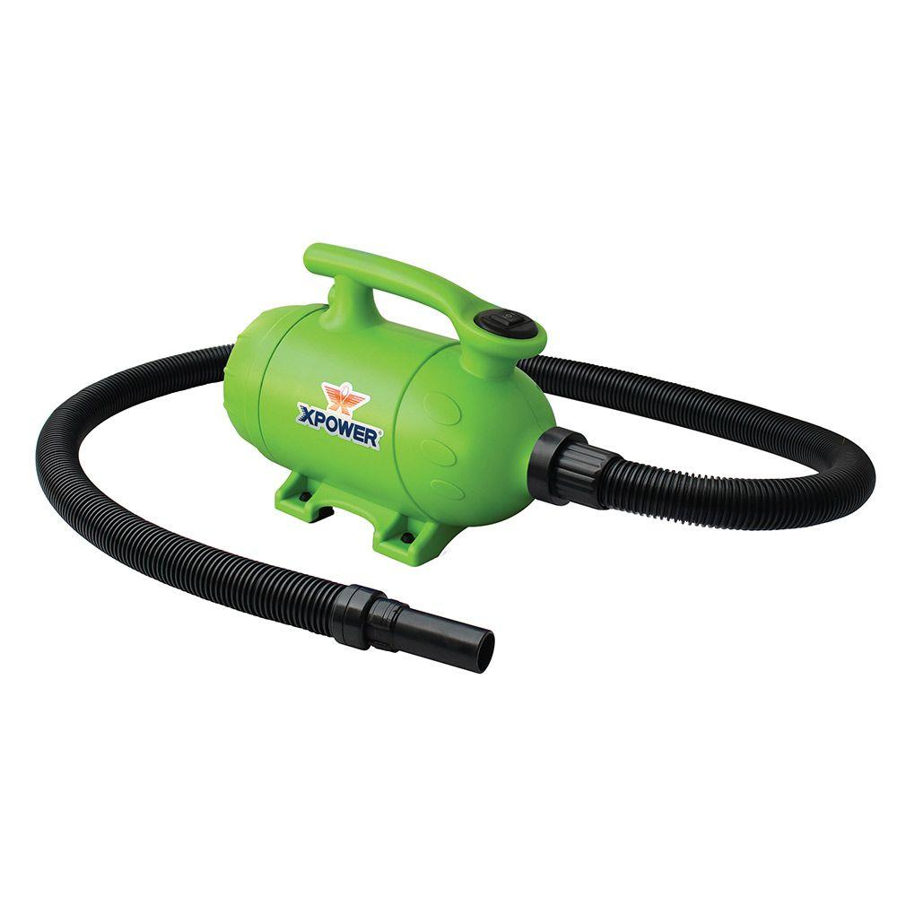 XPOWER 2 HP Green Pro-At-Home Pet Dryer with Vacuum