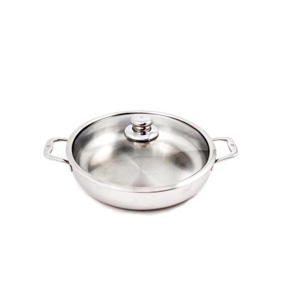 Premium Clad 5.8 qt. Stainless Steel Saute Pan with Glass Lid