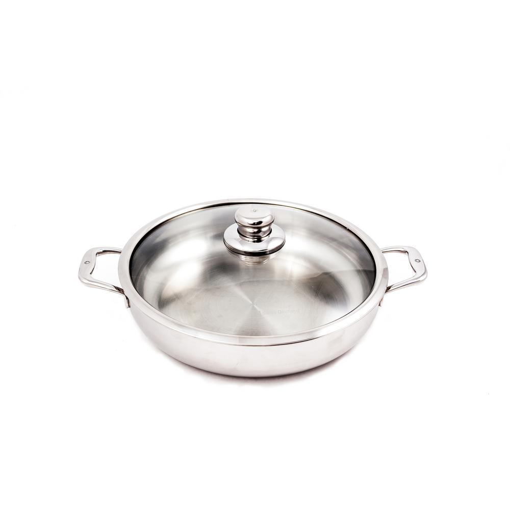 5.8 Qt. Premium Clad Chef's Pan with Lid
