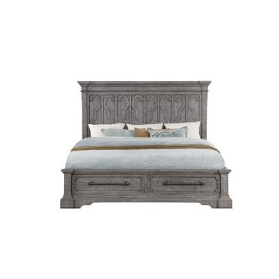 Artesia Salvaged Natural Queen Bed with Storage