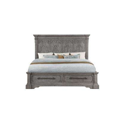 Artesia Salvaged Natural Eastern King Bed with Storage
