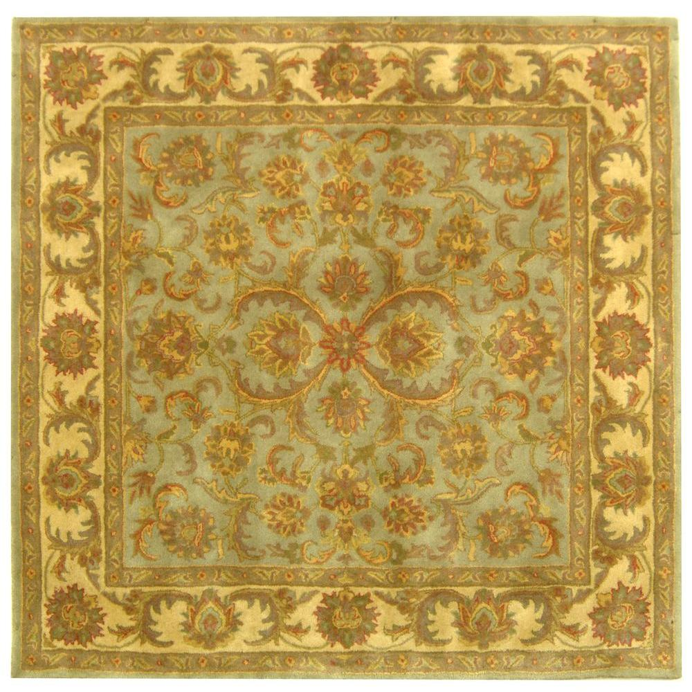 Safavieh Heritage Green Gold 8 Ft X 8 Ft Square Area Rug