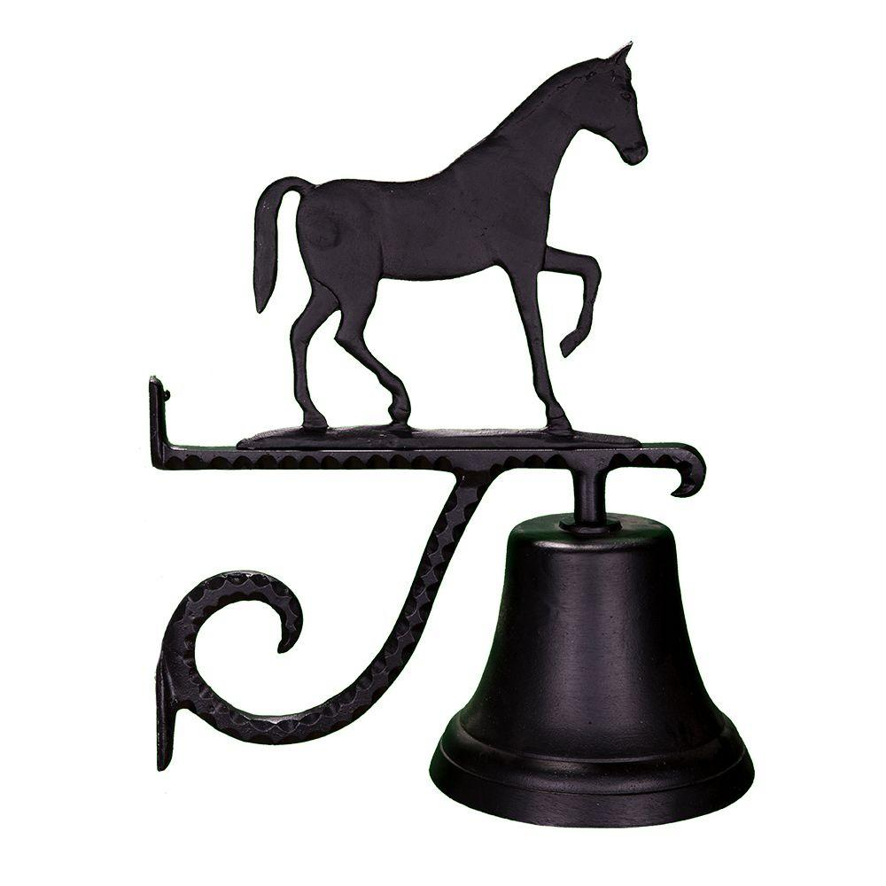 Cast Bell with Black Gaited Horse