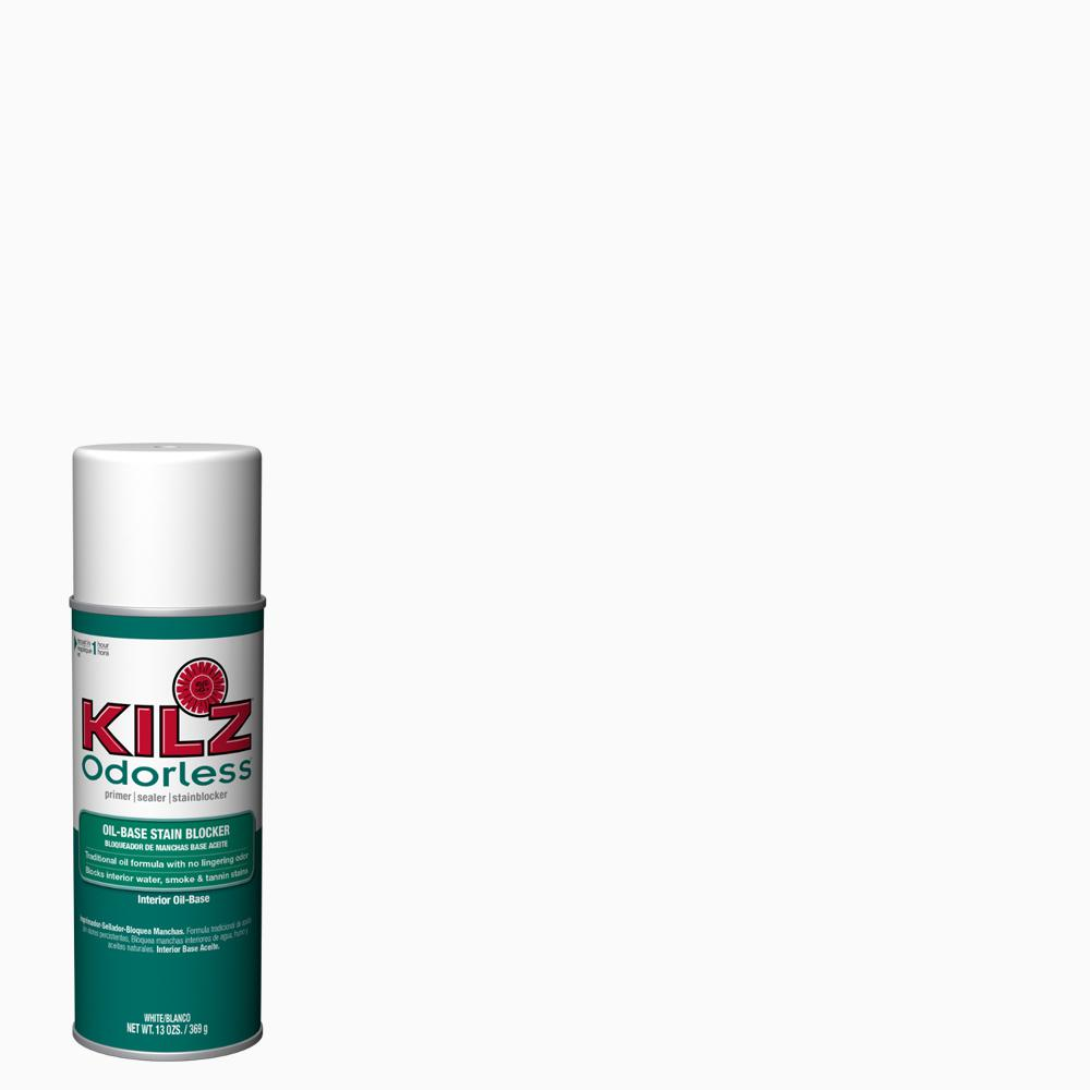 Kilz Odorless 13 Oz White Oil Based Interior Primer Spray