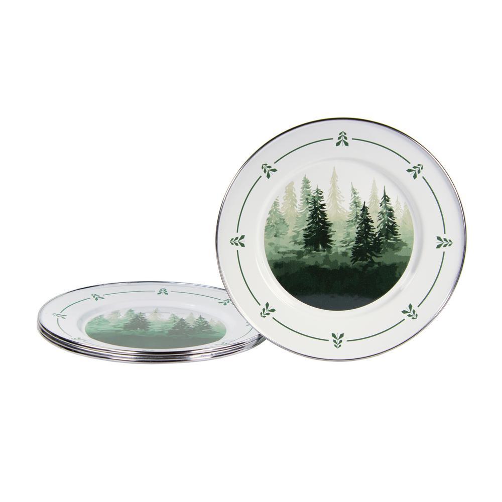 Forest Glen Enamelware Dinner Plate (Set of 4)