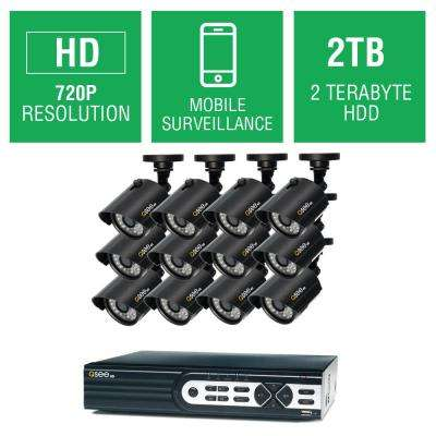16-Channel 720p 2TB Full HD Surveillance System with (12) 720p Bullet Cameras