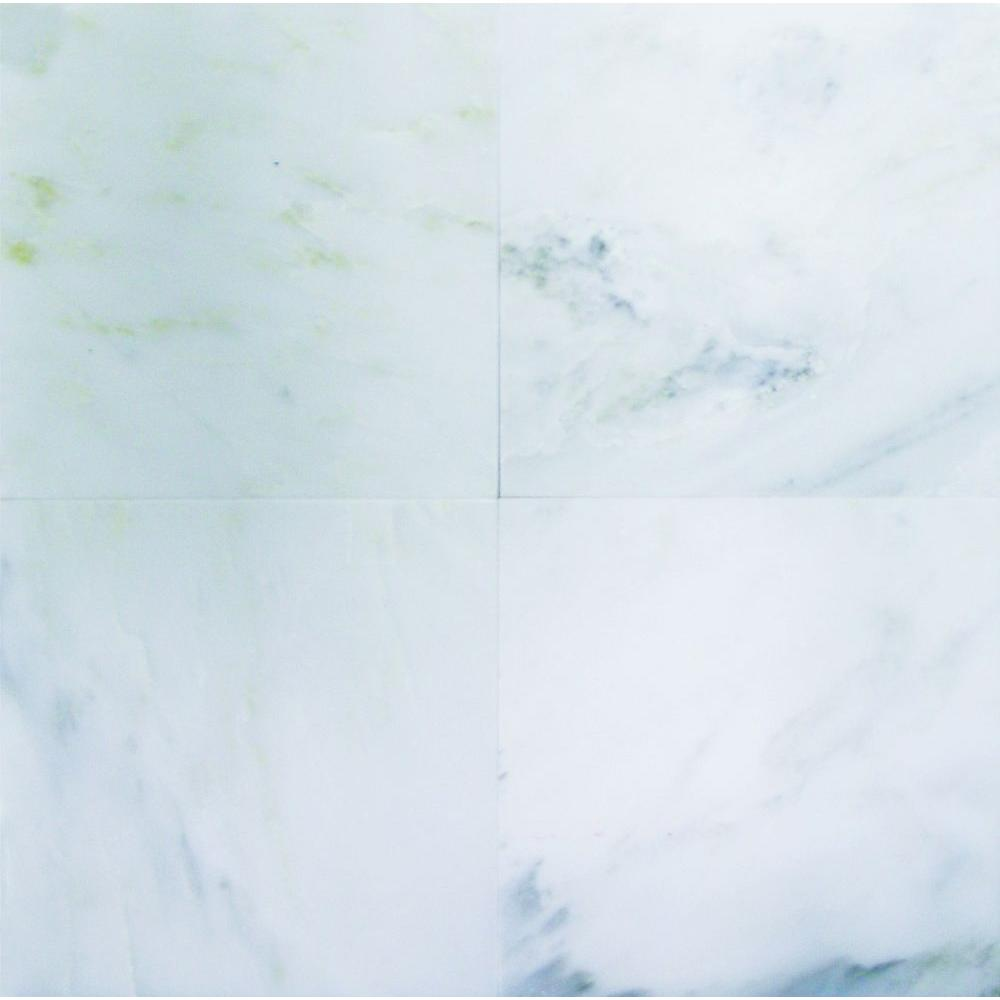MS International Greecian White 6 in. x 6 in. Polished Marble Floor and Wall Tile (1 sq. ft. / case)